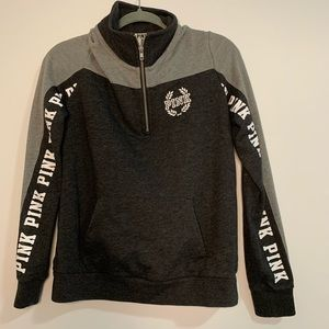 PINK Victoria's Secret Black & Grey Sweatshirt